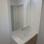 東区牛田南2丁目新築 三面鏡付き洗面化粧台