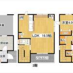 中区吉島西1丁目新築 建物面積112.61㎡。3LDK+WICの間取りです。