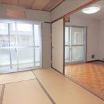 オアシスマンションプレジデント光ヶ丘 和室6帖と続き間のダイニングスペース