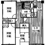 ロイヤルシャトー東雲 専有面積67.56㎡。3LDKの間取りです。(間取)