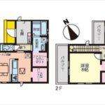 中区江波栄町新築 建物面積96.47㎡。3LDKの間取りです。