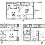 西区横川新町中古 建物面積114.26㎡。4LDKの間取りです。