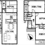 南区西本浦町新築 建物面積95.17㎡。2LDK+2納戸の間取りです。