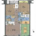 フローレンス古市センターコート 専有面積66.21㎡。2SLDKの間取りです。