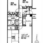 井口台パークヒルズ弐番館 専有面積71.53㎡。3LDKの間取です。(間取)