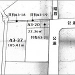 敷地面積207.77㎡(62.85坪)の土地です。