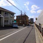 中区吉島西1丁目土地 現地前面道路