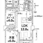チサンマンション広島 専有面積52.50㎡。1SLDKの間取りです。