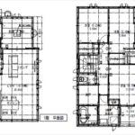 安芸郡海田町蟹原1丁目新築 建物面積105.79㎡。4LDK+納戸+WICの間取りです。