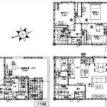 中区南千田東町新築 建物面積105.57㎡。2LDK+2納戸の間取りです。