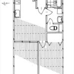 東カングランドマンション広島 専有面積54.45㎡。2LDKの間取りです。(間取)