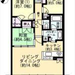 BELISTA矢賀 専有面積74.37㎡。3LDKの間取りです。(間取)