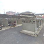 フローレンス東蟹屋グランドアーク 使用料無料です。 防犯性の高いサイクルポート