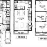 南区大州5丁目新築 建物面積110.12㎡。4LDKの間取りです。