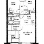 BELISTA吉島 専有面積67.38㎡。14階建ての10階部分です。(間取)