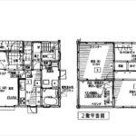 呉市焼山桜ヶ丘2丁目新築 建物面積111.79㎡。4LDK+WICの間取りです。