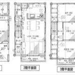 南区大州5丁目新築 建物面積110.12㎡。3LDK+納戸の間取りです。