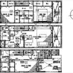 南区宇品御幸5丁目新築 建物面積112.66㎡。4LDKの間取りです。