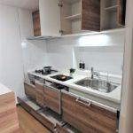 みゆきパークマンションB棟 たっぷり収納のシステムキッチン