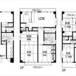 南区宇品神田3丁目中古 建物面積278.97㎡。鉄骨造3階建てです。