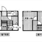 中区竹屋町中古 建物面積40.50㎡。2DKの間取りです。